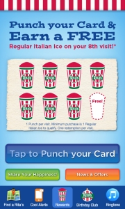 Rita's Italian Ice App Screenshot